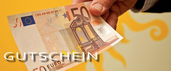 Gutschein im Wert von 50,00 Euro / A4 im *.pdf-Format zur Rücksendung