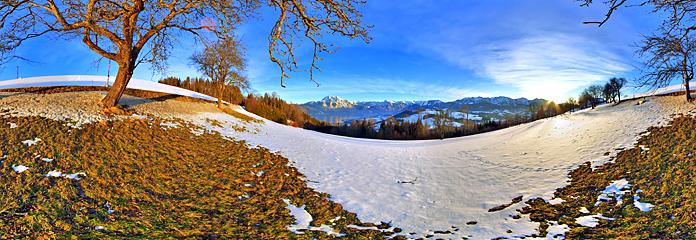 360 Grad Panorama vom Gmundnerberg, Jänner 2012