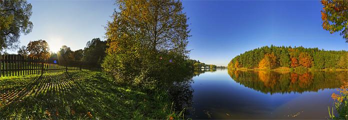 Spazierweg und Fischerplätze rund um den Stadtsee in Allentsteig